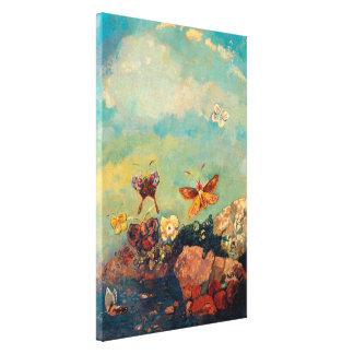 Mariposas el   Odilon Redon Impresión En Lona