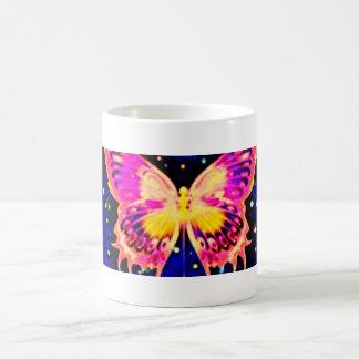 Mariposas eléctricas taza