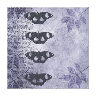 Mariposas elegantes inspiradas impresión de lienzo