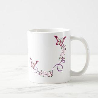 mariposas elegantes taza