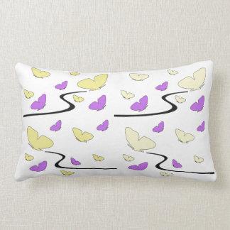 Mariposas en amarillo y rosado, almohada de Mojo