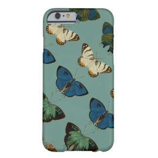 Mariposas en azul funda de iPhone 6 barely there