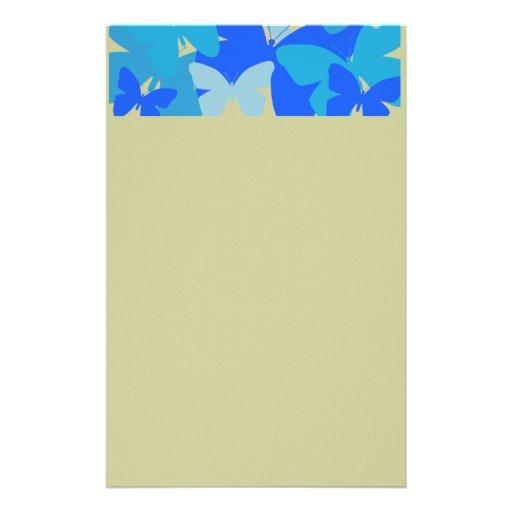 Mariposas en azul  papeleria de diseño
