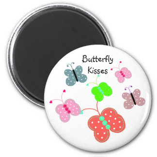 Mariposas en cada color imán redondo 5 cm