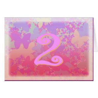 Mariposas en colores pastel tarjeta de felicitación
