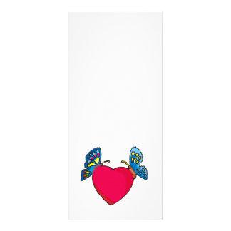 mariposas en diseño del corazón tarjetas publicitarias a todo color