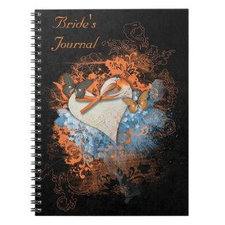 Mariposas en el diario de la novia pagana de libros de apuntes