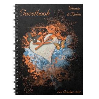 Mariposas en el Guestbook de Samhain Handfasting Libros De Apuntes Con Espiral