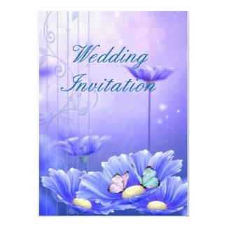 Mariposas en la invitación del boda de la