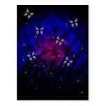 Mariposas en la noche tarjetas postales