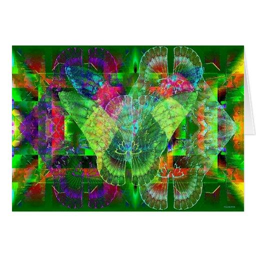 Mariposas en la pared tarjeta de felicitación