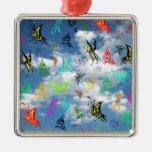 Mariposas en nubes ornamento de reyes magos