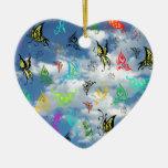 Mariposas en nubes ornamentos para reyes magos