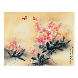 Mariposas en primavera tarjeta postal