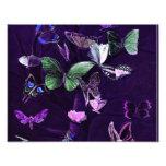 Mariposas en púrpura arte con fotos