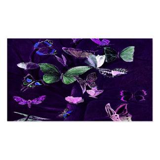 Mariposas en púrpura tarjetas de visita