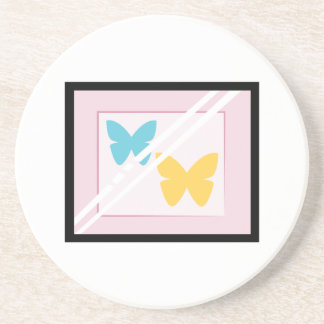 Mariposas enmarcadas posavasos diseño