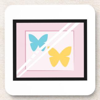 Mariposas enmarcadas posavasos