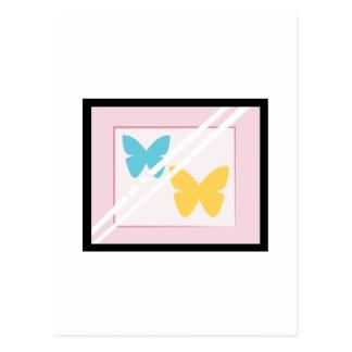 Mariposas enmarcadas tarjetas postales