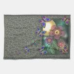 Mariposas enmarcadas toalla de mano