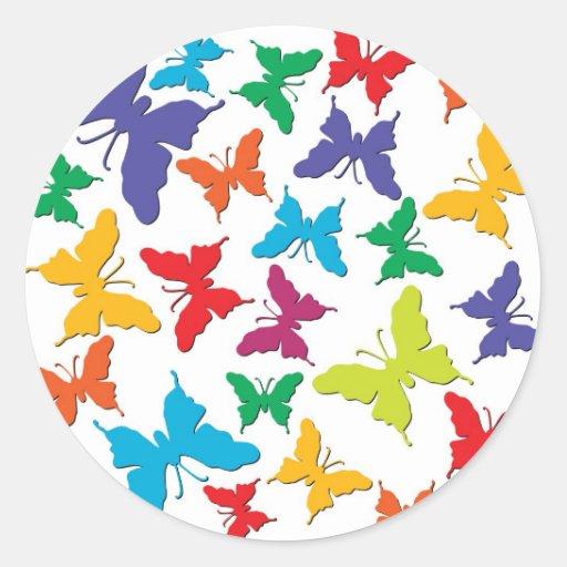 Mariposas Etiquetas Redondas