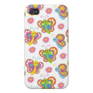 mariposas felices de la primavera pern iPhone 4 coberturas