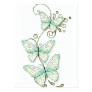 Mariposas florecientes 2 postales