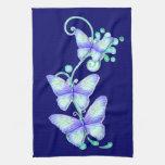 Mariposas florecientes 8 toalla de mano