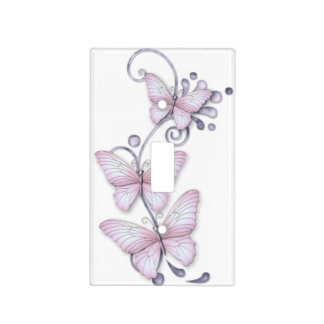 Mariposas florecientes placa para interruptor