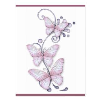 Mariposas florecientes postales