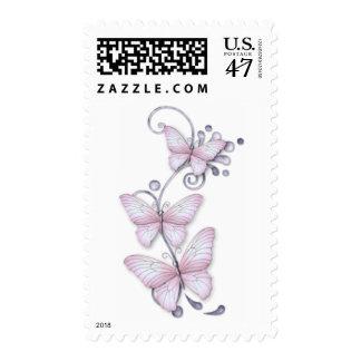 Mariposas florecientes timbres postales