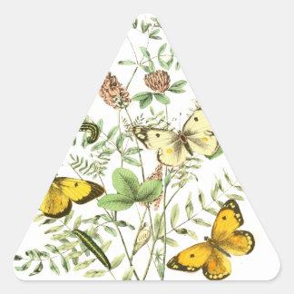 Mariposas francesas pegatina triangular