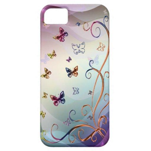 Mariposas Funda Para iPhone SE/5/5s