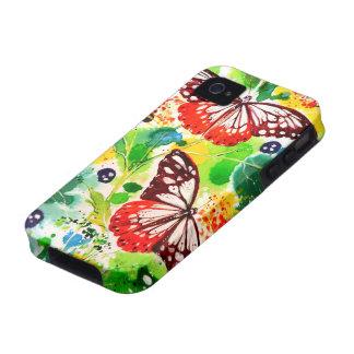 Mariposas gemelas Case-Mate iPhone 4 fundas
