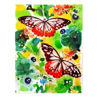 Mariposas gemelas postales