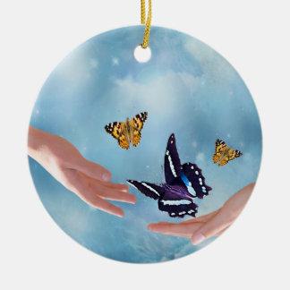 Mariposas hermosas adorno de navidad