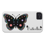 Mariposas hermosas del arco iris iPhone 4 carcasas
