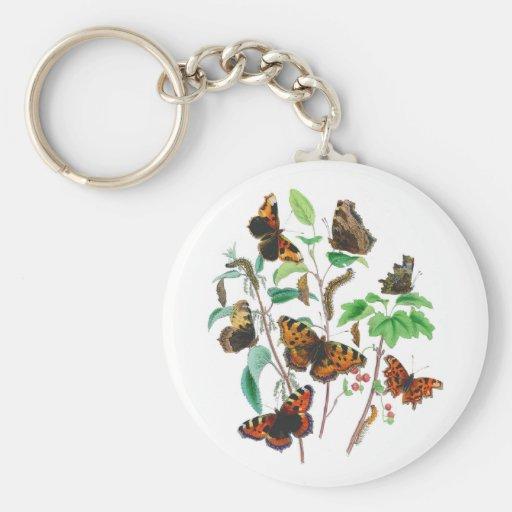 Mariposas hermosas llavero redondo tipo pin