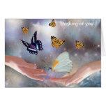 Mariposas hermosas tarjetas