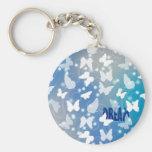 Mariposas ideales azules llavero personalizado