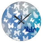 Mariposas ideales azules relojes