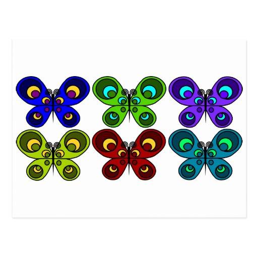 Mariposas junto postales