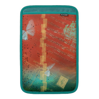 mariposas, lámpara, lamentable, elegante, funda para macbook air