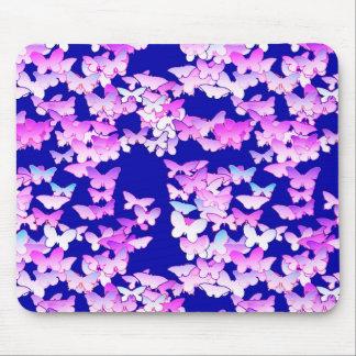 Mariposas, lavanda y azul marino tapete de ratón