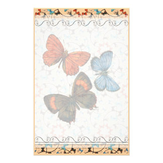 Mariposas LG de la rama cualquier color inmóvil Papelería