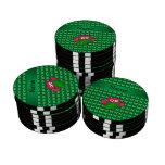 Mariposas lindas conocidas personalizadas del fichas de póquer