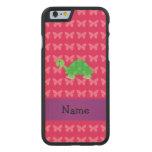 Mariposas lindas conocidas personalizadas del rosa funda de iPhone 6 carved® de arce