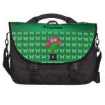 Mariposas lindas conocidas personalizadas del verd bolsas para portatil