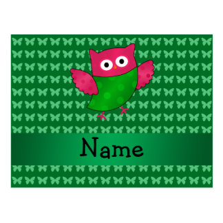 Mariposas lindas conocidas personalizadas del verd tarjeta postal
