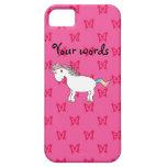 Mariposas lindas del rosa del unicornio iPhone 5 Case-Mate fundas